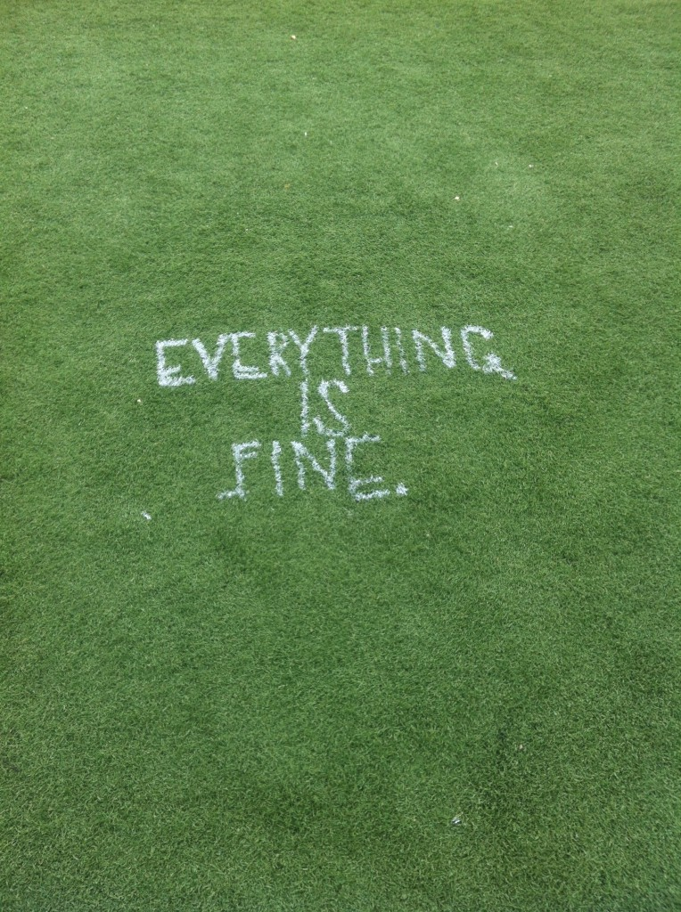 I usually hate when people tag on the ball field, but this...