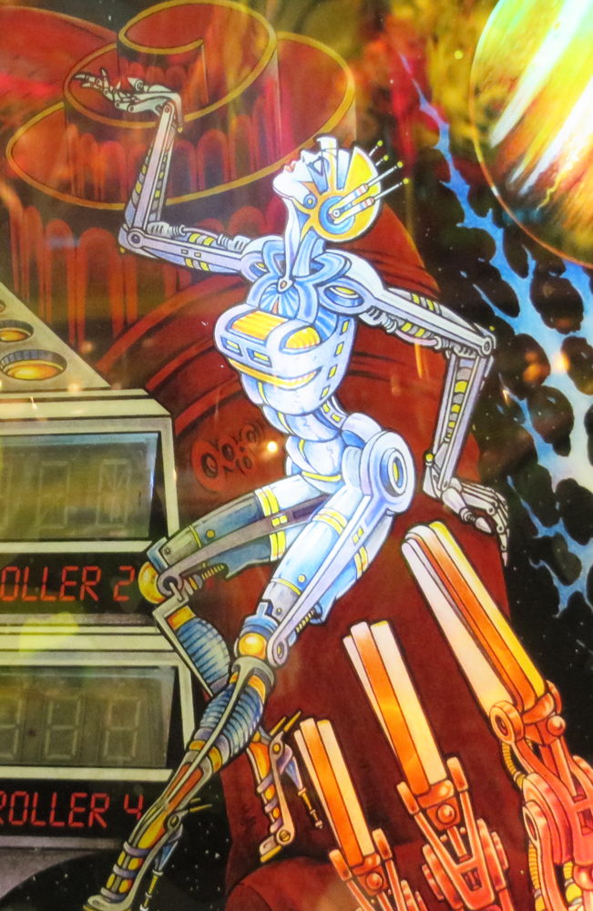 "I can't deal with robots with tits. I just can't. There's an awful one that I've shuddered at for years, but Googling ""sexy robot pinball"" is as far as I'm willing to go down that rabbithole. I'll take a picture next time I'm at Shorty's. Robots with tits, no no no."