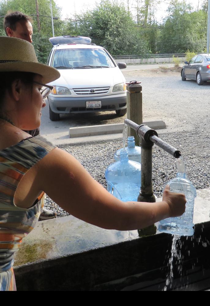 filling a jug