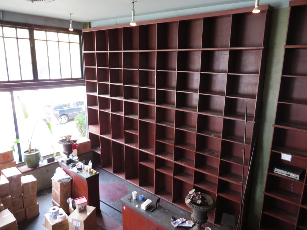 old empty bauhaus shelves