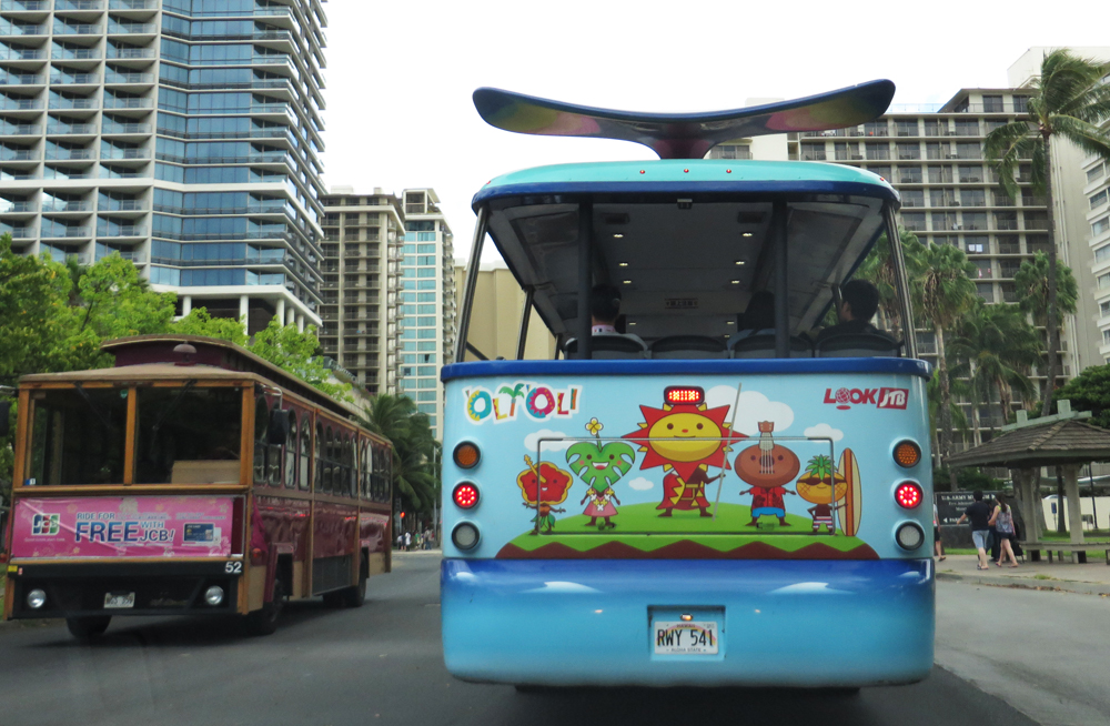 honolulu tourist buses