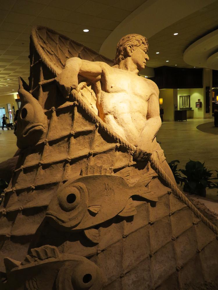 sheraton sand sculpture