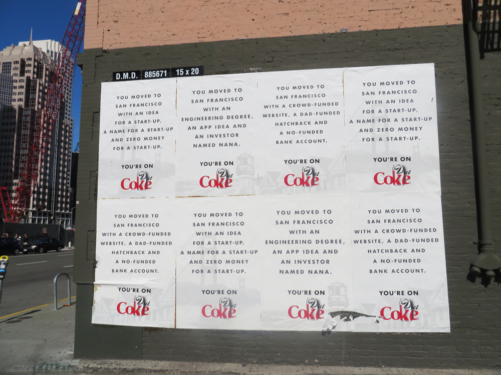 more weird diet coke ads in san francisco