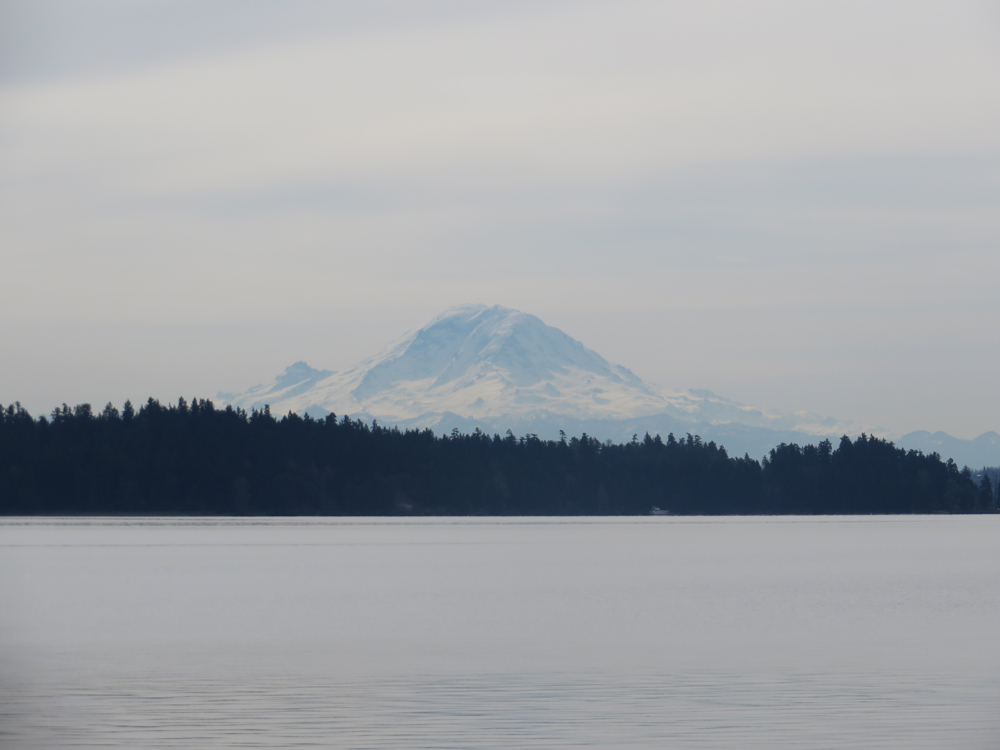 mount rainier from the i-90 bridge