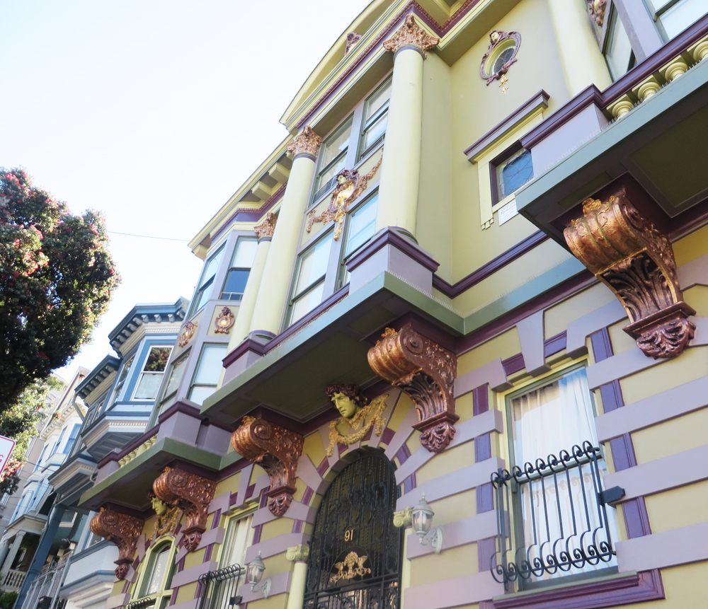 very very ornate house off haight in san francisco