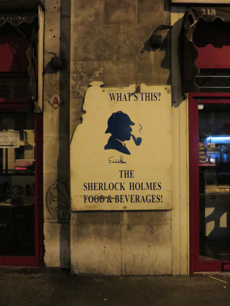 Sherlock Holmes cafe and beverages