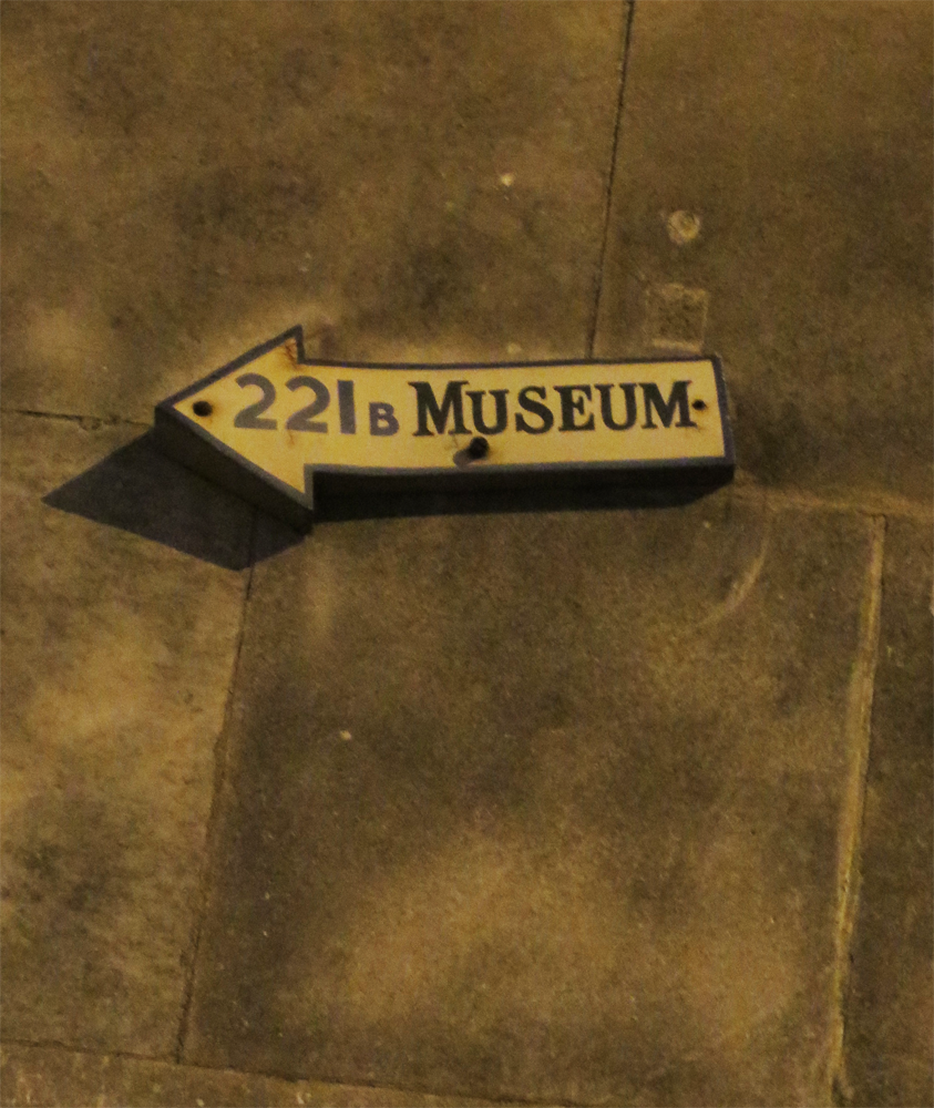 221b Museum sign on Baker Street