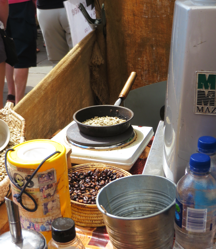 Single-serving bean roasting at Camden Market