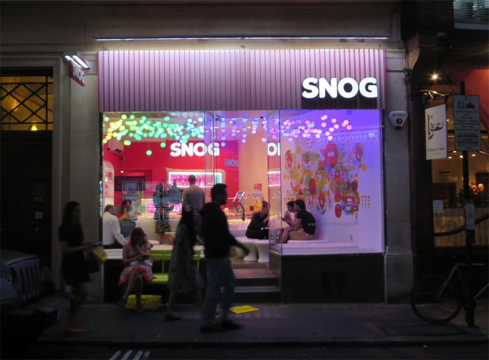 Snog frozen yogurt, London