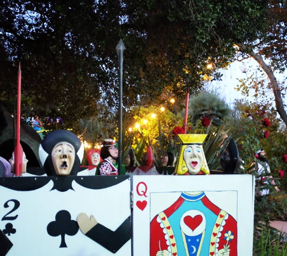 Playing card guards at Fairyland