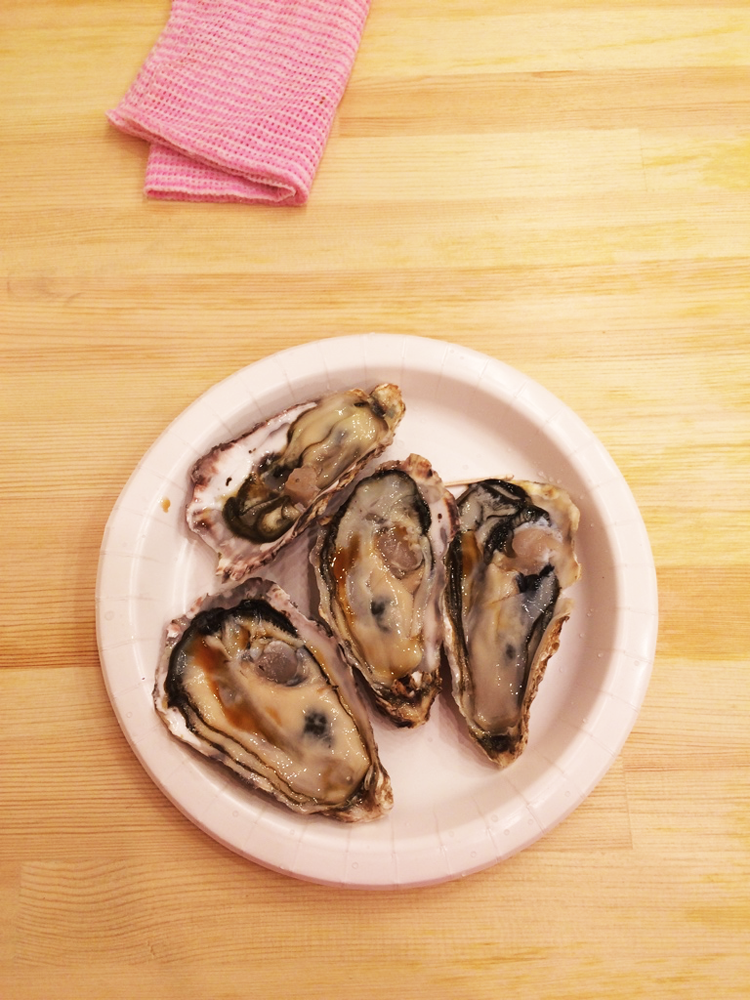Oysters from Tsukiji Market