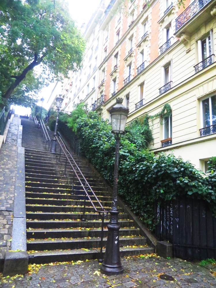 One of so many long, beautiful staircases in Montmartre