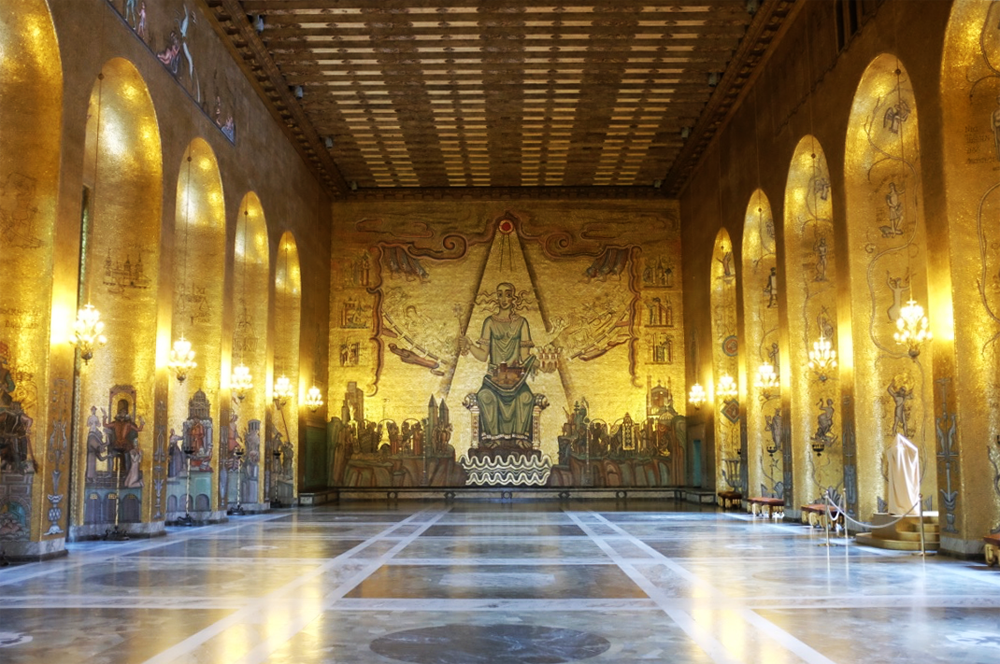 Gold Room at Stockholm's City Hall