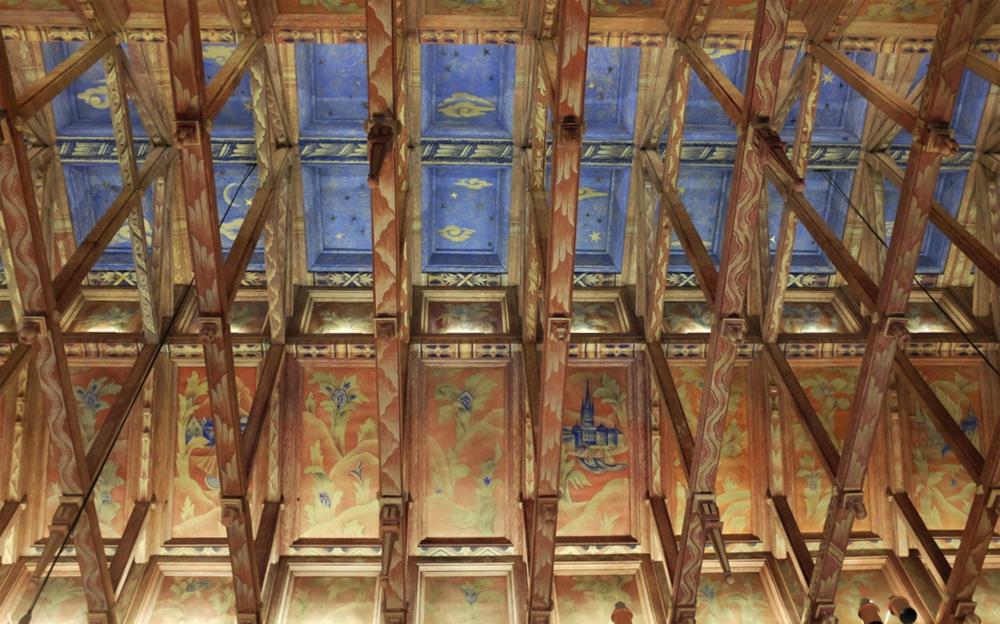 Rådssalen ceiling detail