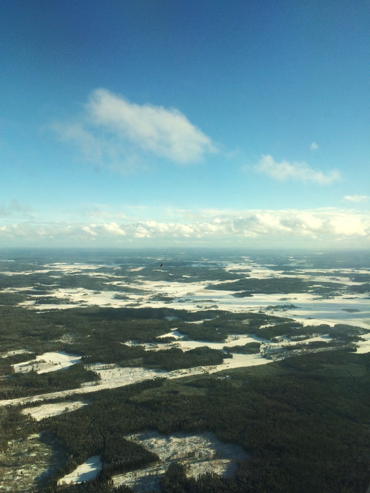 Sky outside Stockholm from a plane