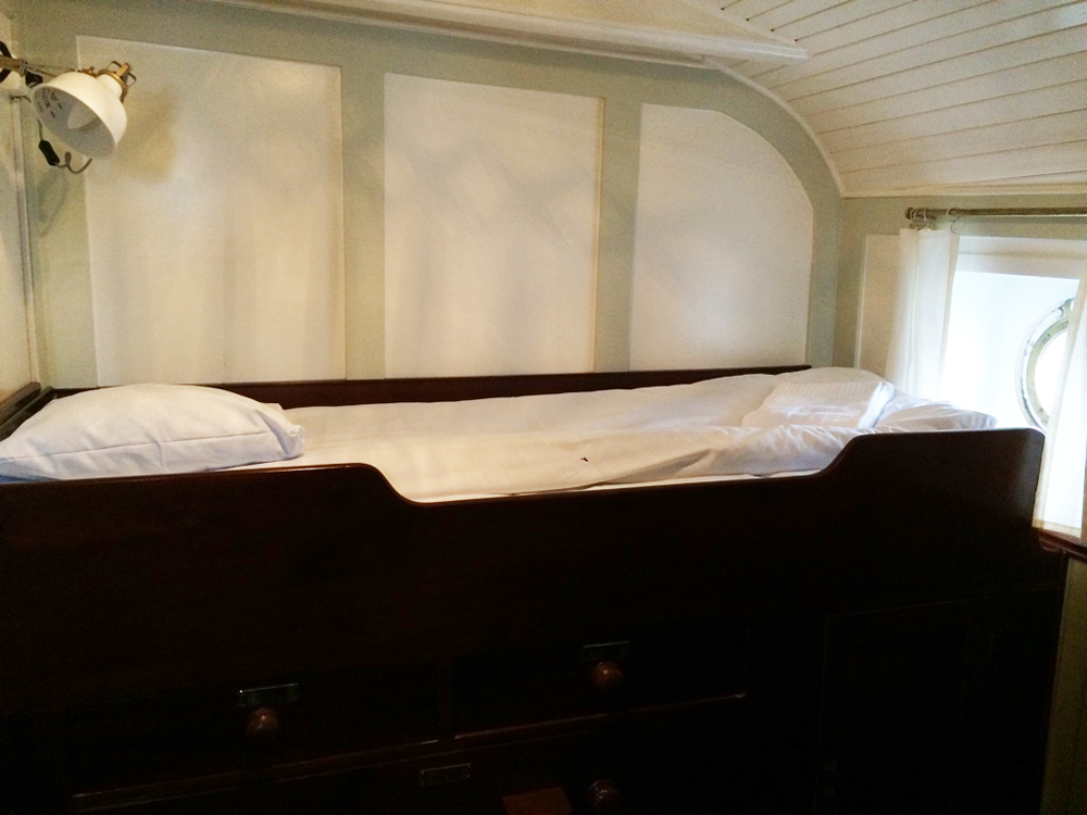 Bed in Officer's Quarter on Af Chapman