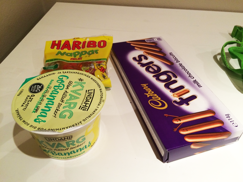 Sad person food from a Swedish grocery