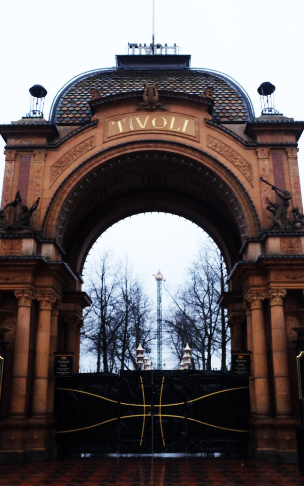 The entrance to Tivoli amusement park in Copenhagen