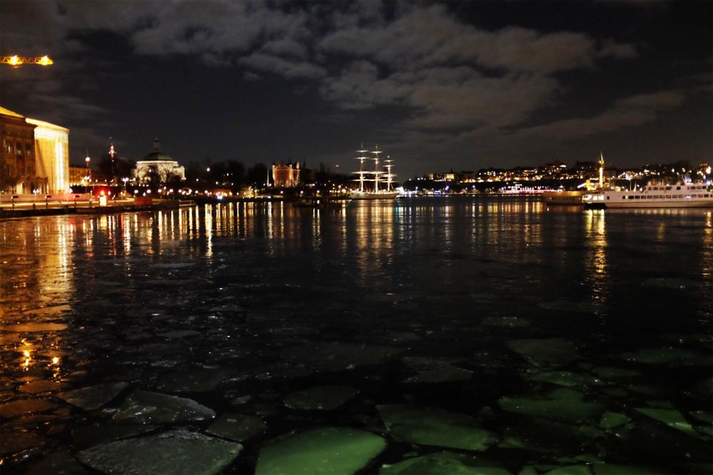 The Af Chapman across Stockholm Harbor