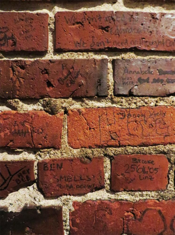 Graffiti brick at Bauhaus