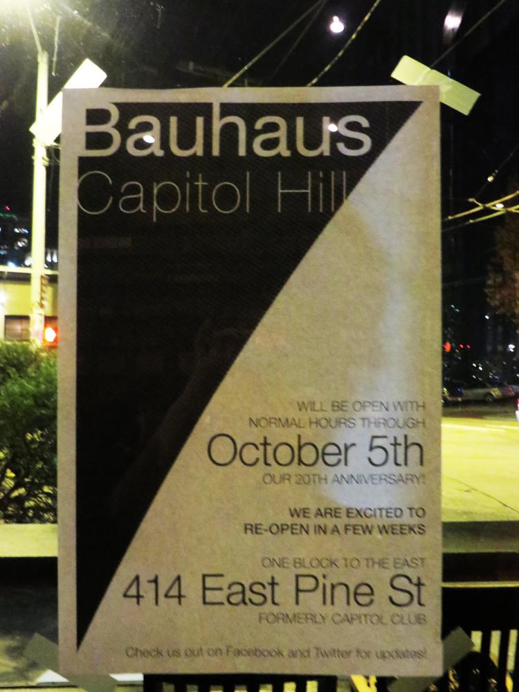 Closure poster at Bauhaus
