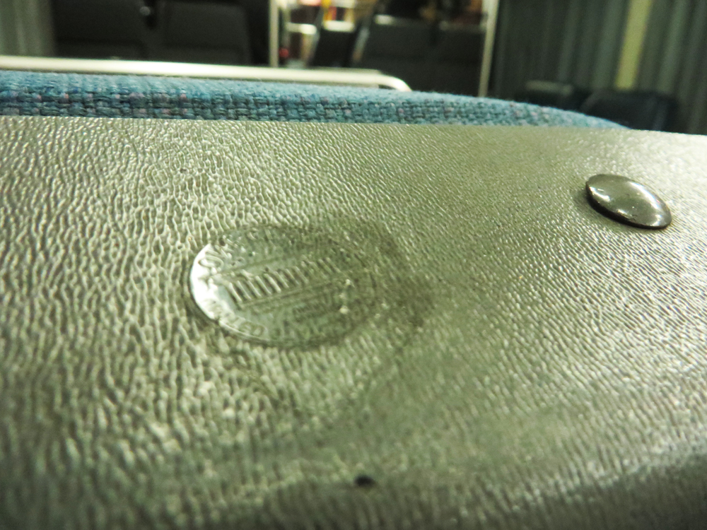 penny on a bus seat