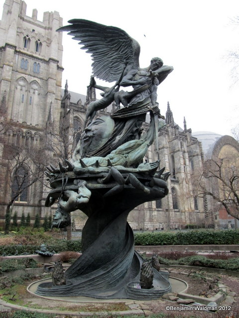 Peace-Fountain-Cathedral-St-John-the-Divine-Decapitated-Satan-Giraffes-DNA-NYC