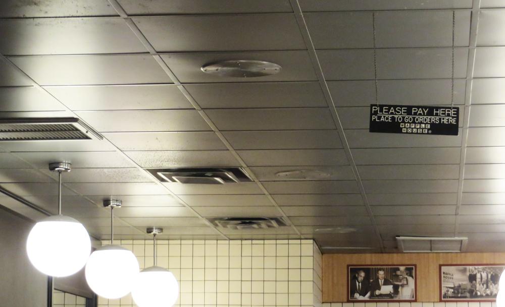 3 waffle house ceiling