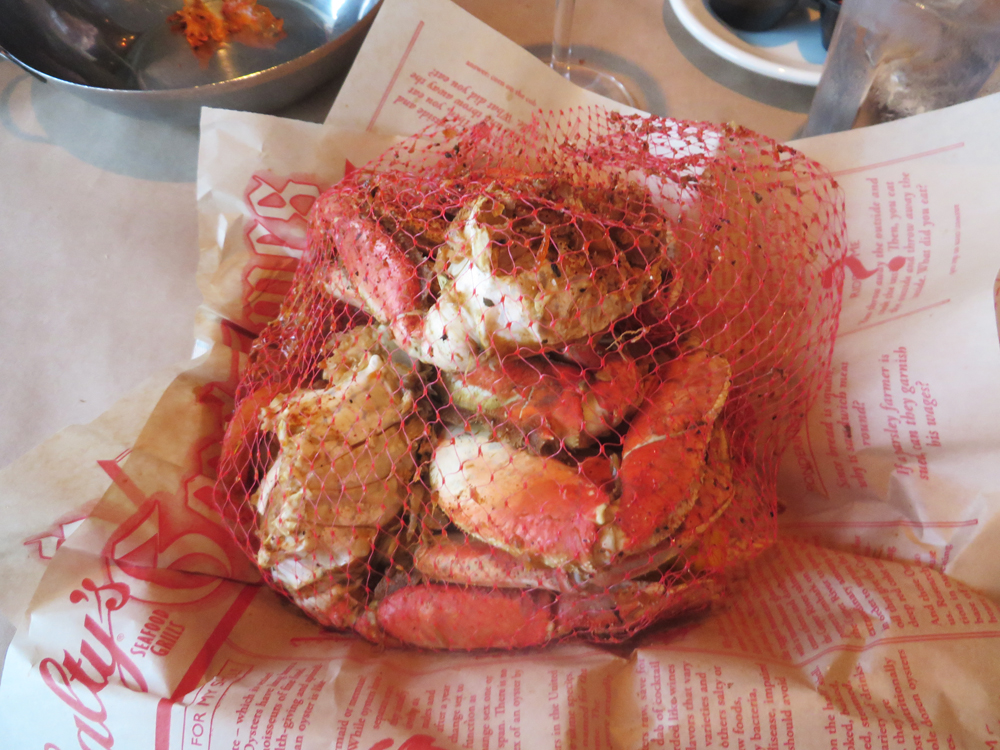 bag o' crab at salty's in west seattle