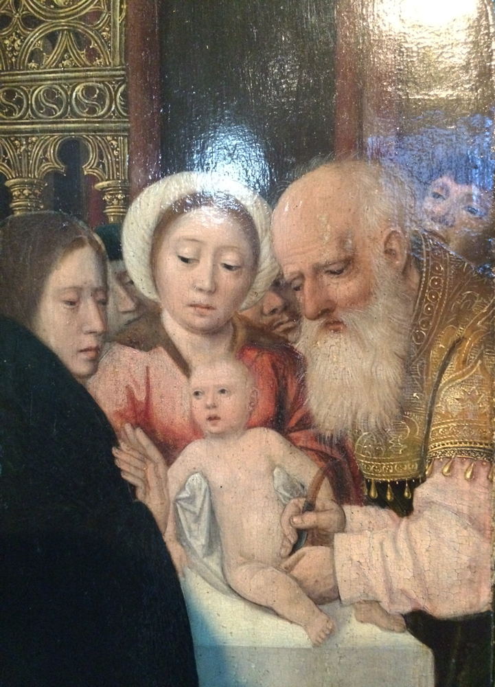 Magi, The Circumcision, and the rest on the flight into Egypt, Anonymous, Flanders, 16th century