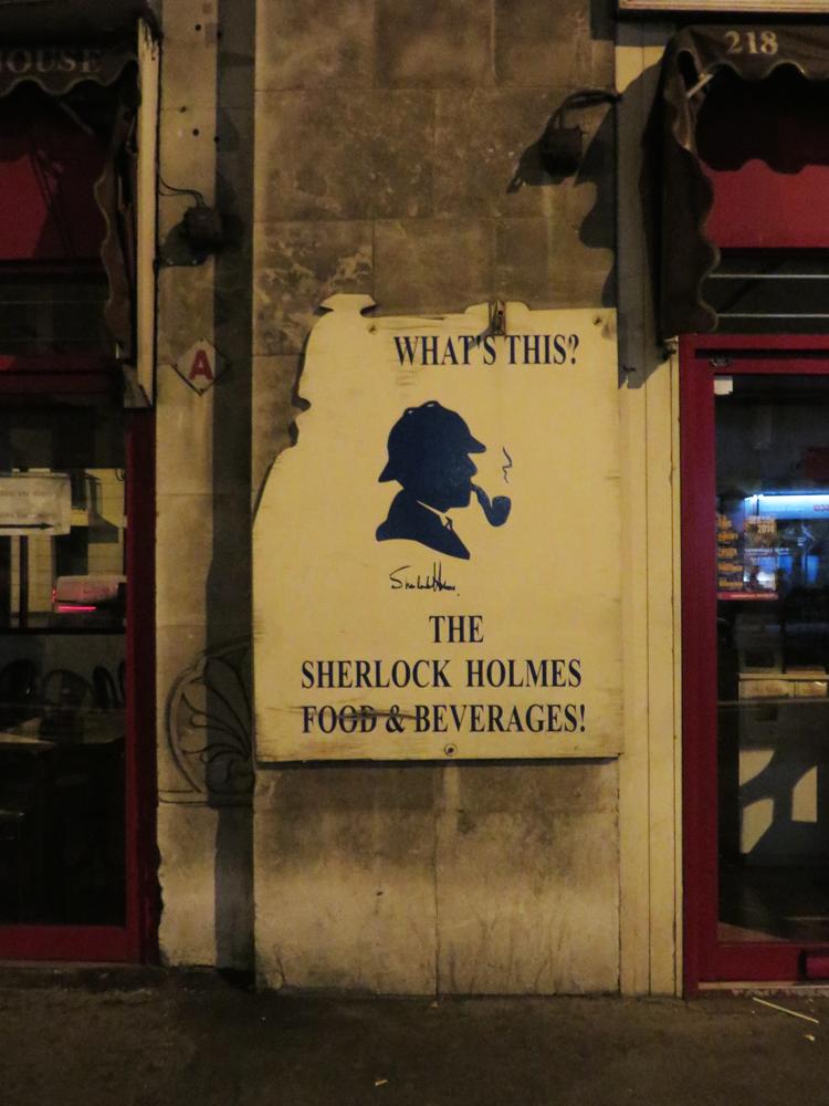 Sherlock Holmes cafe and beverages
