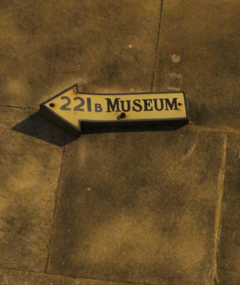 221b Museum sign on Baker Street