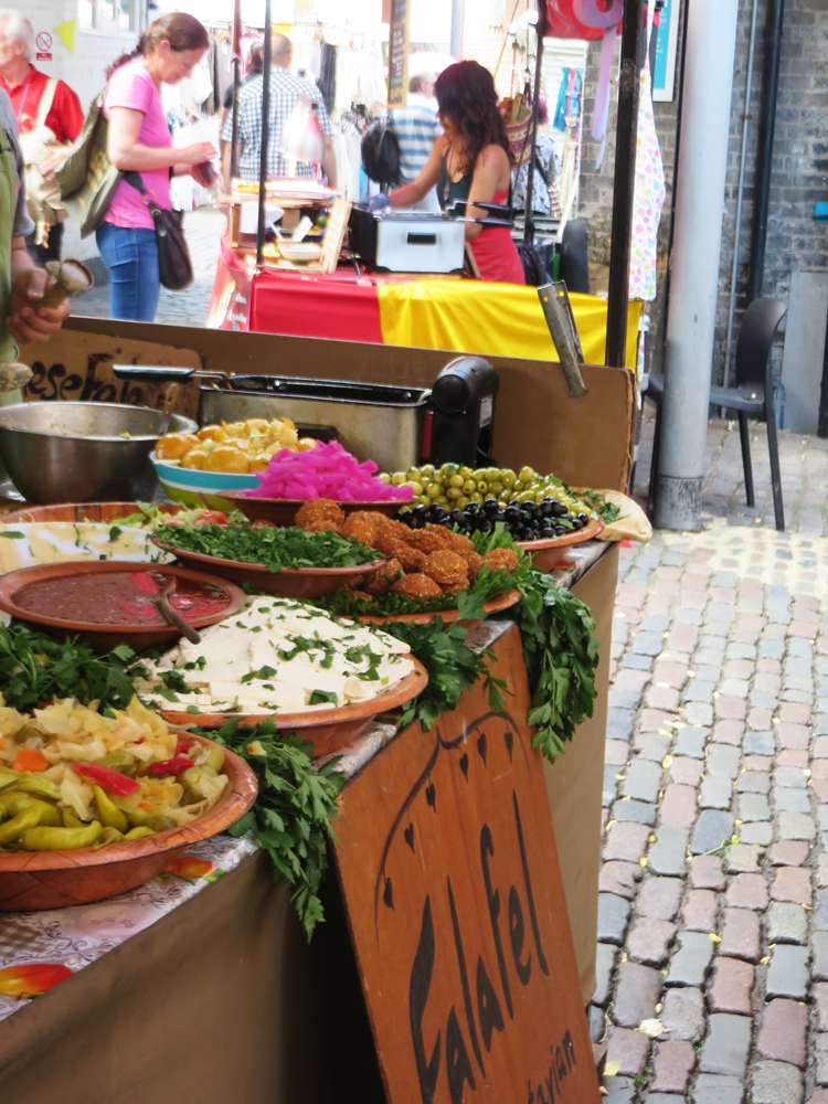 A beautiful falafel stand at Camden Market