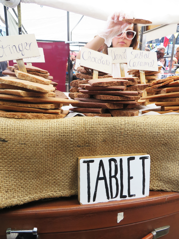 A pile of tablet at Camden Market
