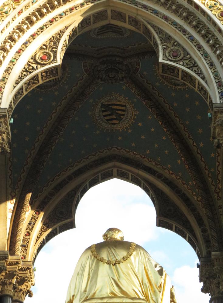 London's Albert Memorial from behind