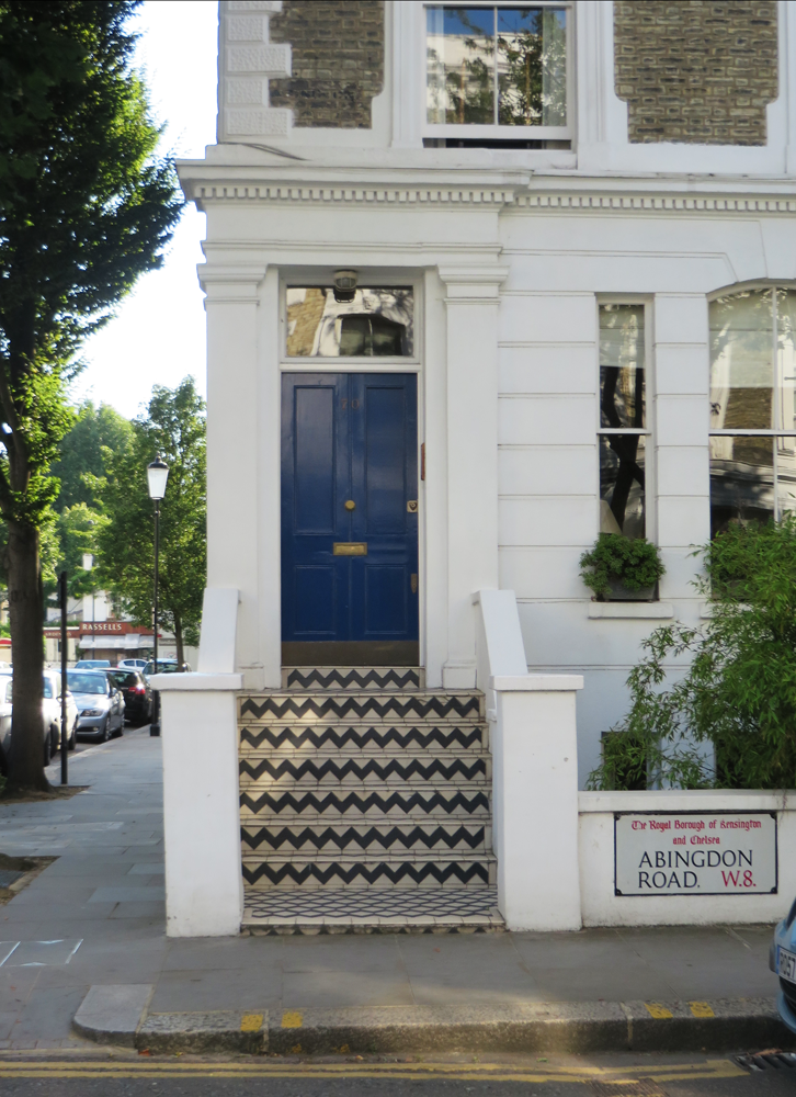 Kensington house with zigzag stairs