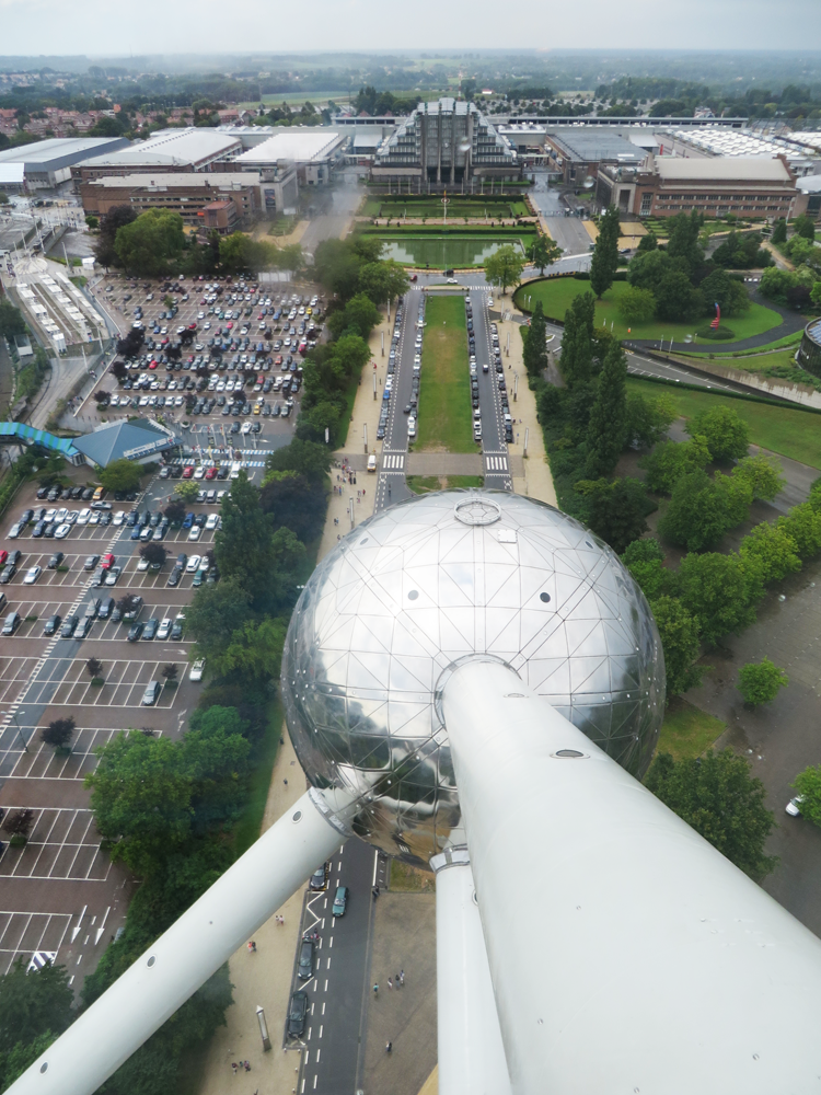 The US Pavilion in Brussels, seen from the Atomium