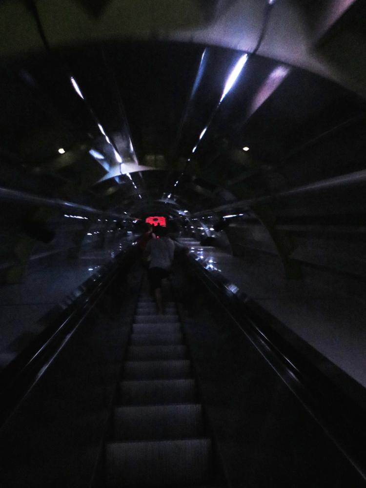 The Atomium's Cylon escalator