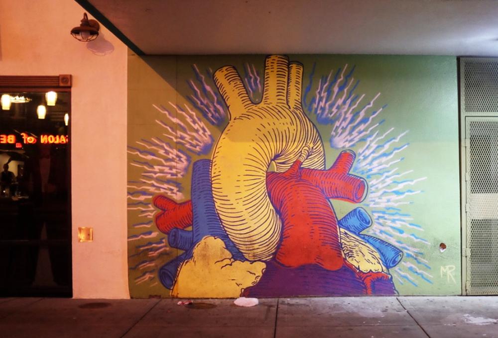 Heart mural on Las Vegas's Fremont Street