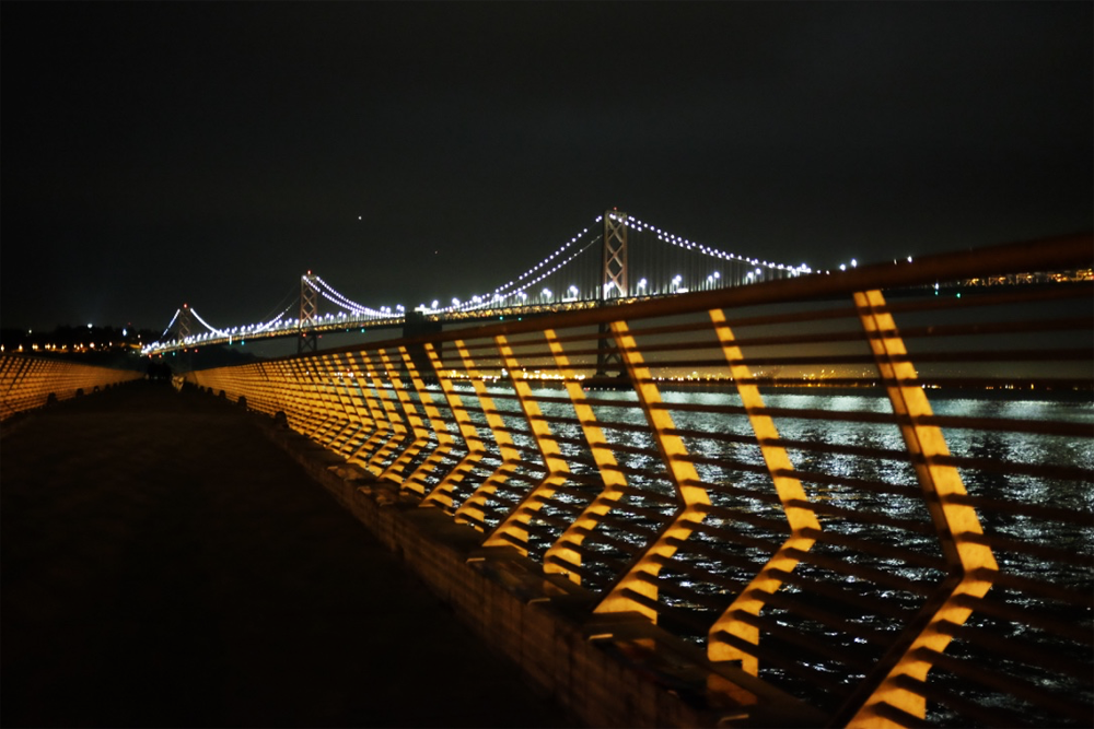 Bay Bridge and Pier 14