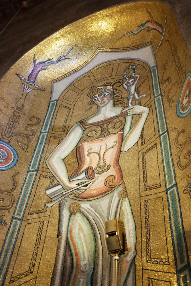 Stockholm city hall mosaic detail