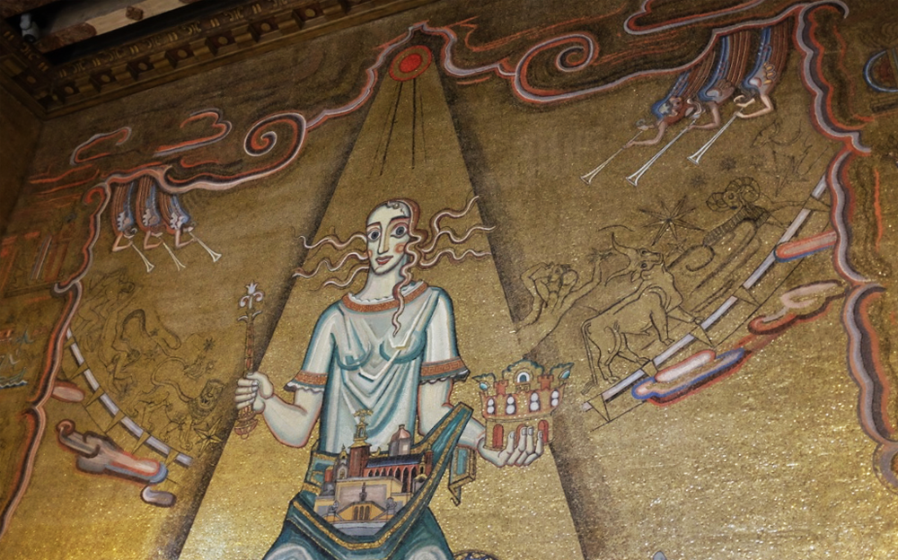 Queen of Lake Mälaren in the Gold Room at Stockholm's City Hall