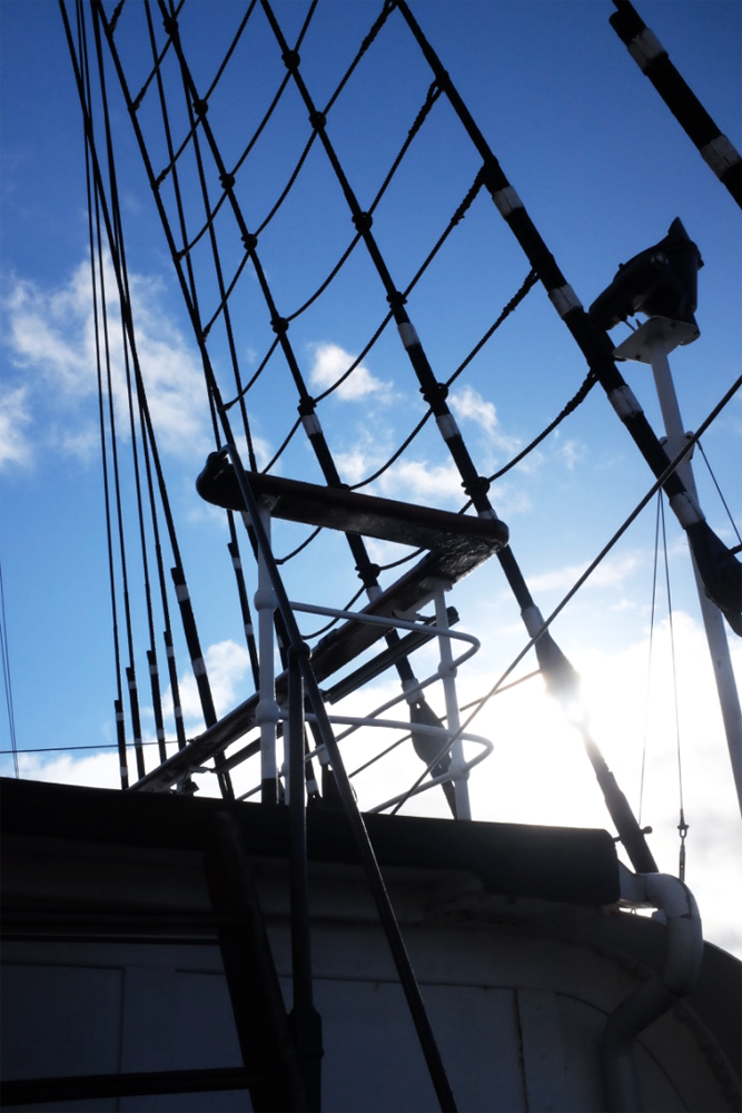 Some rigging on the Af Chapman