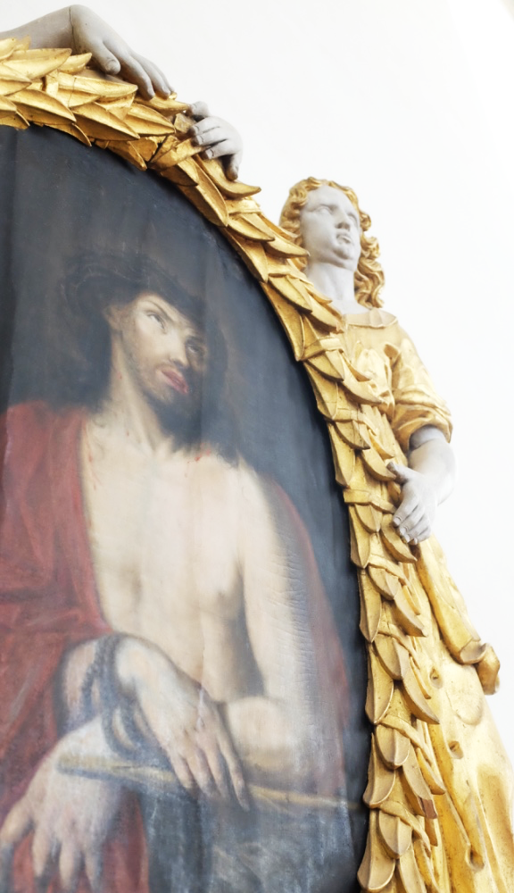 Religious carving and painting at Stockholm's Historiska Museet