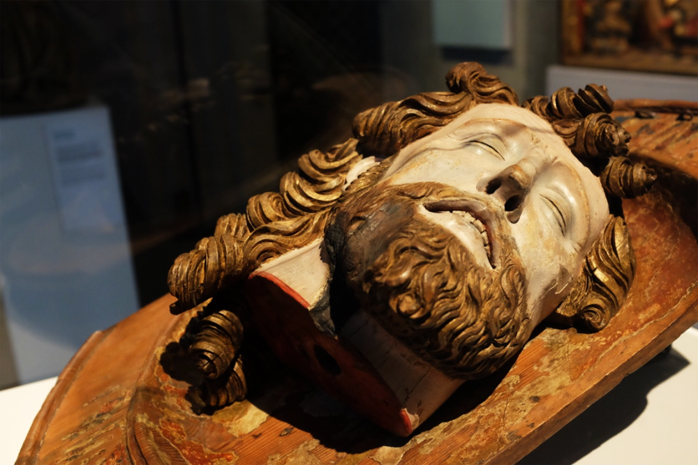 Religious carving at Stockholm's Historiska Museet